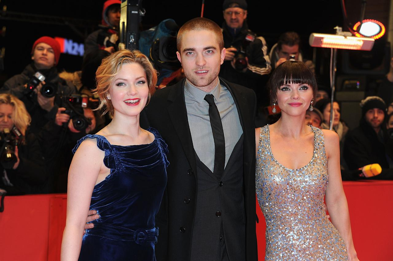 "BERLIN, GERMANY - FEBRUARY 17:  Actors Holliday Grainger, Robert Pattinson and Christina Ricci attend the ""Ben Ami"" Premiere during day nine of the 62nd Berlin International Film Festival at the Berlinale Palast on February 17, 2012 in Berlin, Germany.  (Photo by Pascal Le Segretain/Getty Images)"