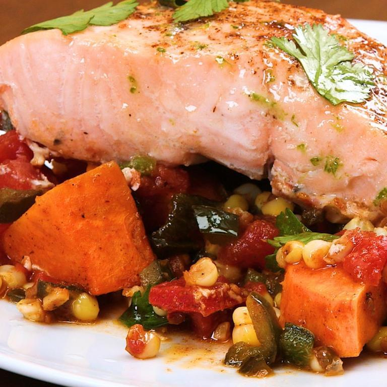 Southwestern Salmon Skillet Supper