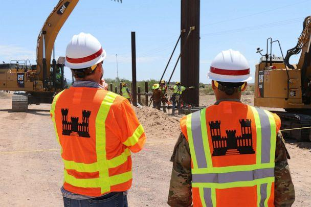 PHOTO: The first panel of three Tucson projects installed near Lukeville, Ariz. (William Dowell/Task Force Barrier)