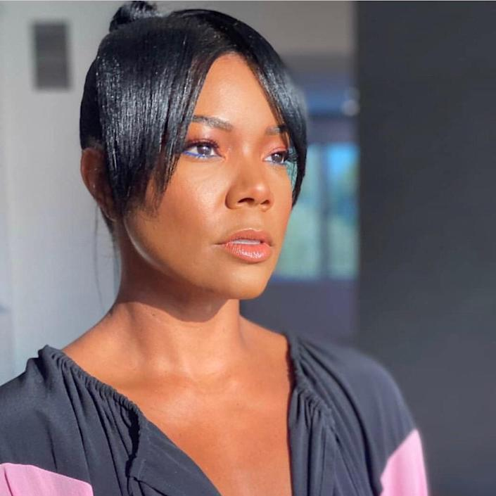"""<p>Several experts we spoke to said curtain bangs, seen here on <a href=""""https://www.allure.com/story/gabrielle-union-curtain-bangs-hairstyle?mbid=synd_yahoo_rss"""" rel=""""nofollow noopener"""" target=""""_blank"""" data-ylk=""""slk:Gabrielle Union"""" class=""""link rapid-noclick-resp"""">Gabrielle Union</a>, are <em>the</em> hair trend of spring 2021, and it's not the least bit surprising. """"Curtain bangs take any hairstyle to the next level and make a messy bun more elevated,"""" raves <a href=""""https://covetandmane.com/"""" rel=""""nofollow noopener"""" target=""""_blank"""" data-ylk=""""slk:Covet & Mane"""" class=""""link rapid-noclick-resp"""">Covet & Mane</a> founder Dafina Smith, who says they're great for round faces because they have a lengthening effect. </p> <p>""""Curtain bangs have a softer shape that goes from short to long, and they're perfect for those who are afraid to commit to a full bang,"""" says <a href=""""https://www.instagram.com/franckhair/?hl=en"""" rel=""""nofollow noopener"""" target=""""_blank"""" data-ylk=""""slk:Franck Izquierdo"""" class=""""link rapid-noclick-resp"""">Franck Izquierdo</a>, co-founder of <a href=""""https://www.igkhair.com/"""" rel=""""nofollow noopener"""" target=""""_blank"""" data-ylk=""""slk:IGK"""" class=""""link rapid-noclick-resp"""">IGK</a>. """"It's a great way to add style to longer hair.""""</p> <p>Polko completely agrees that it's a low-stakes, high-payoff take on fringe. """"I love these bangs because they frame the face nicely without being too blunt,"""" she says, recommending that you ask your stylist for a fuller bang that hits just below the eyeline. """"They're gaining popularity because they're not a full commitment, since they can be tucked behind your ear without clipping them back.""""</p>"""