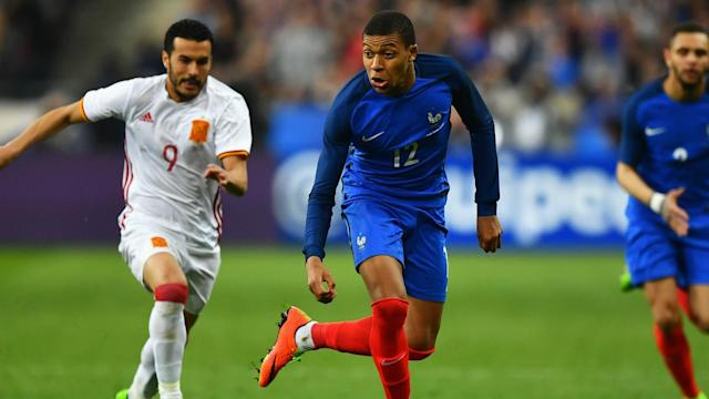 Kylian Mbappe refused to dismiss a future switch to Real Madrid following France's 2-0 friendly loss to Spain on Tuesday.