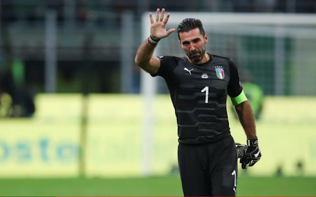 "Gianluigi Buffon called time on his 175-cap international career following the confirmation of Italy's failure to qualify for the World Cup. The 39-year-old Juventus goalkeeper kept a clean sheet against Sweden at San Siro but his outfield team-mates failed to score the goals that could have overturned the Scandinavians' 1-0 advantage in the two-legged European play-off. Buffon had already decided to hang up his national-team gloves after Russia 2018 and, with that opportunity stripped from him seven months before the tournament, he is taking his leave early. In tweets from the Vivo Azzurro account, he said: ""We are proud, we are strong, we are stubborn. We will pick ourselves up as we have always done. It appears Gianluigi Buffon has played his final game for Italy. He will be much missed. A mountain of a man. A Giant of a goalkeeper. A credit to his sport.— Gary Lineker (@GaryLineker) November 13, 2017 ""I am leaving a squad that will know how to pick itself up again. ""Best wishes to everybody, and especially to those with whom I have shared this beautiful journey."" Buffon, who won the World Cup with Italy in 2006, continued: ""The blame is divided equally among all of us. There must be no scapegoats. ""We win together and we lose together. ""I'm not feeling sorry for myself but I'm sorry about the whole affair. We blew something that could have meant so much. The main regret is that it ended like this."""