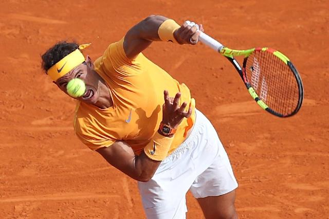 Rafael Nadal began his bid for an 11th Monte Carlo title with a straightforward win (AFP Photo/VALERY HACHE)