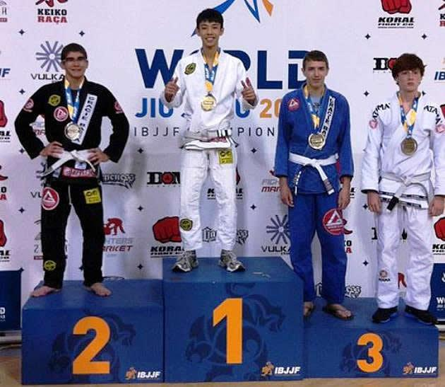 Singapore's Amos Chua finishes top in his division at the World Jiu-Jitsu Championship 2013. (Photo: Amos Chua's Facebook)
