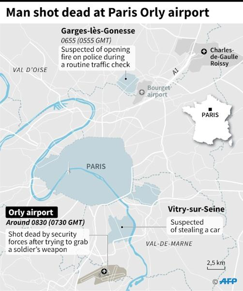 The attack on Paris's Orly airport caused a major security headache, leading to the temporary closure of the capital's second-busiest airport and the cancellation of dozens of flights