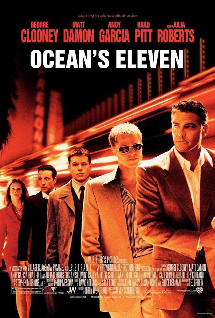 <p>This heist comedy is just as exciting to watch now as it was then — especially with a cast led by George Clooney, Brad Pitt, Julia Roberts and Matt Damon. Smashing the box office and released on December 7, 2001, Danny (George Clooney) calculates an action-packed yet sophisticated casino robbery even we didn't see coming.</p>