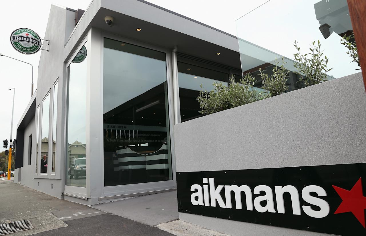 CHRISTCHURCH, NEW ZEALAND - MARCH 28:  Aikmans Bar in Merivale where Jesse Ryder visited last night before an attack that left him in intensive care in Christchurch hospital. on March 28, 2013 in Christchurch, New Zealand. Jared Wickerham (Photo by Joseph Johnson/Getty Images)