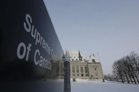 A view shows the Supreme Court of Canada in Ottawa
