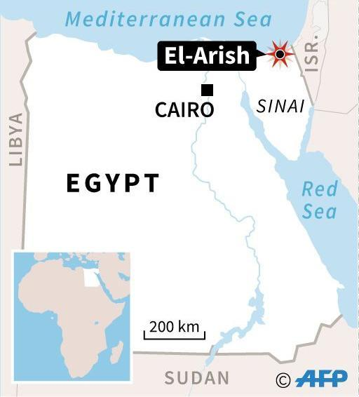 <p>Map showing the location of the attack in El-Arish, Egypt. (Photo: AFP) </p>