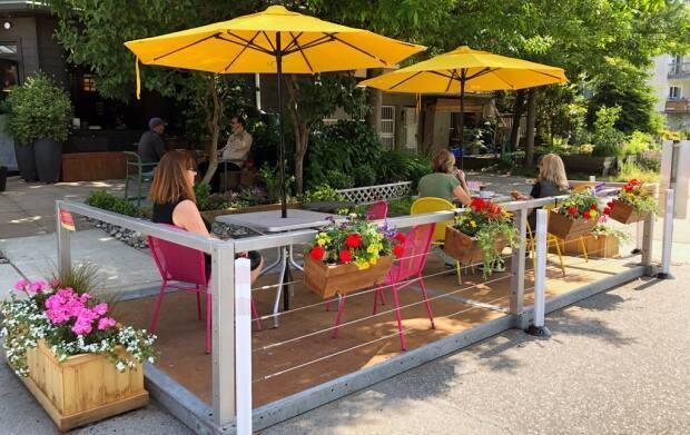 Hundreds of temporary patios have sprung up throughout B.C. to accommodate outdoor dining during the pandemic.