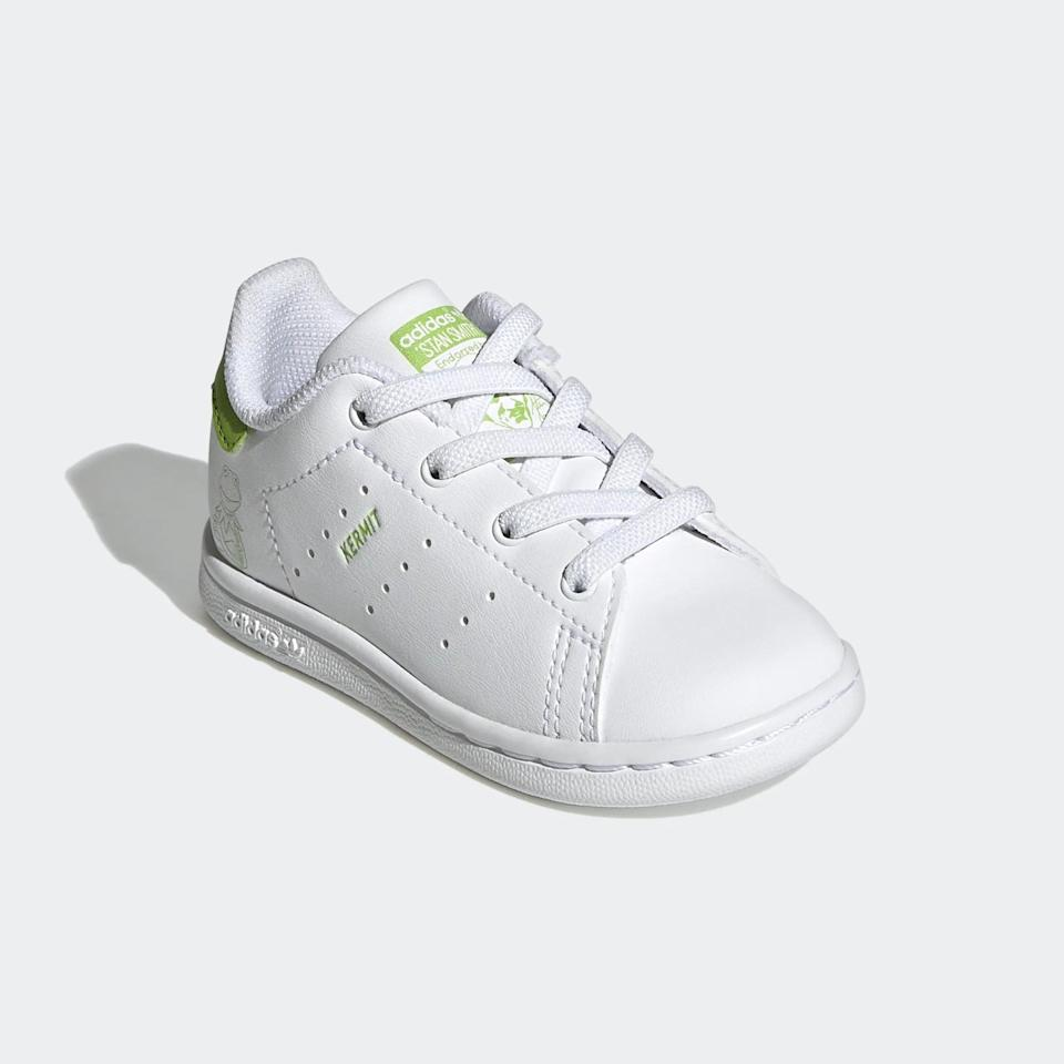 <p><span>Adidas Stan Smith Kermit the Frog Shoes For Toddlers</span> ($50)</p>