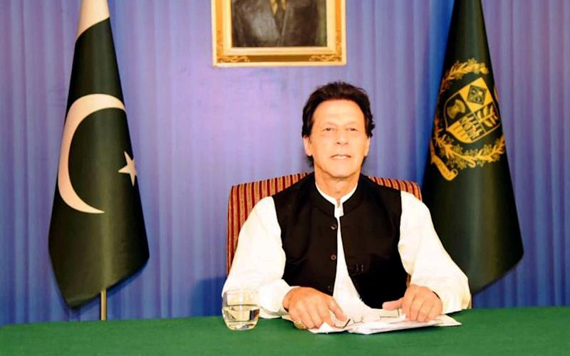 Pakistan's new prime minister Imran Khan speaks to the nation in his first televised address in Islamabad - REUTERS