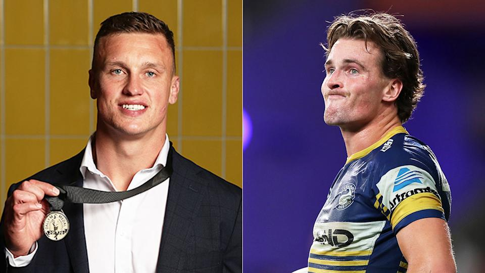 Seen here, Dally M medal winner Jack Wighton and runner-up Clint Gutherson.