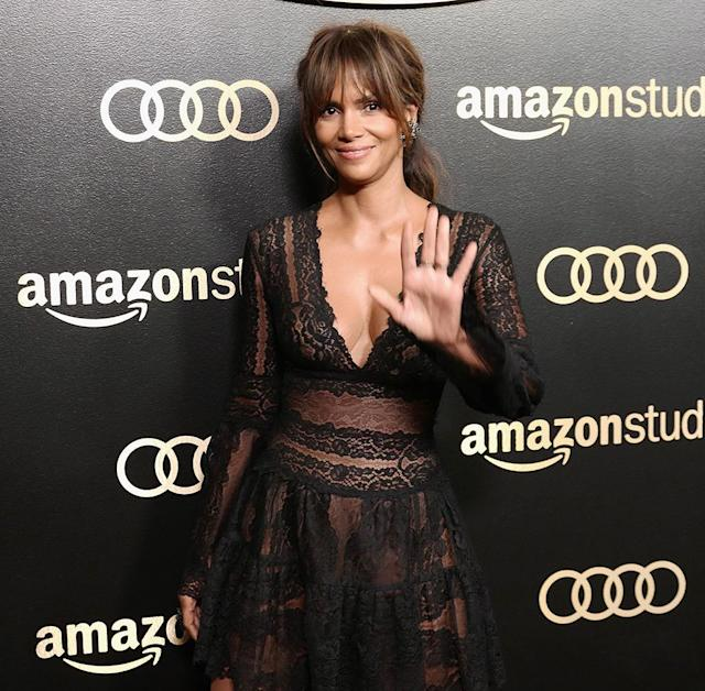 <p>Halle Berry attends Amazon Studios' Golden Globes Celebration at the Beverly Hilton Hotel. (Photo: Earl Gibson III/Getty Images) </p>