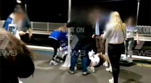 The chaos continued on the platform at Redfern station. Photo: 7 News