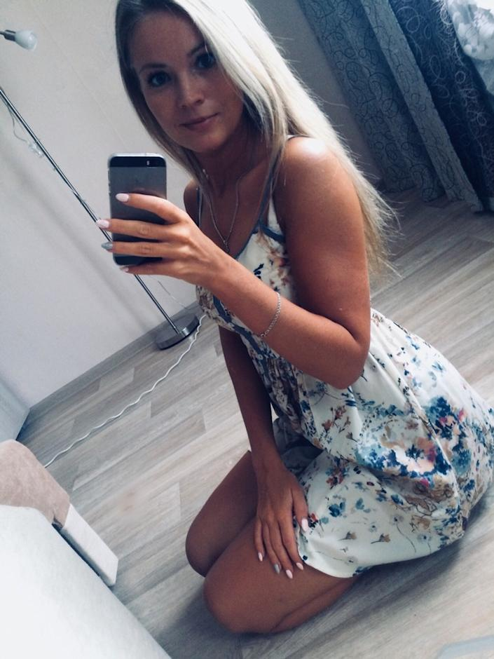 Investigators say she was 'killed instantly' by electrocution after the phone, which was plugged into a 220 volt plug 'slipped' and landed in the water with her. (Instagram)