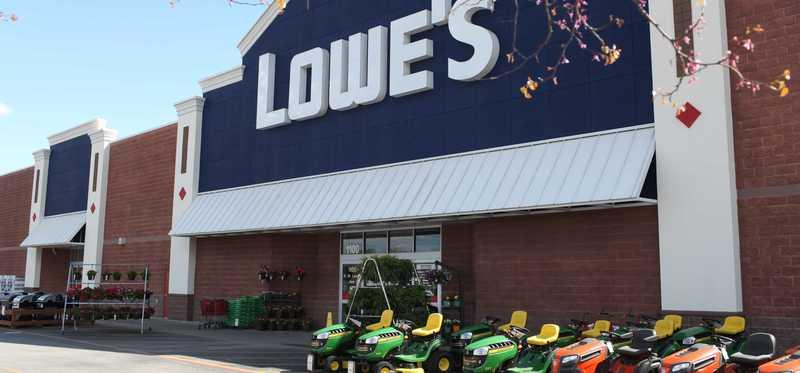 A Lowe's storefront.