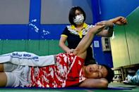 Chou, who does not have a full-time coach, is strongly supported by his physiotherapist Victoria Kao