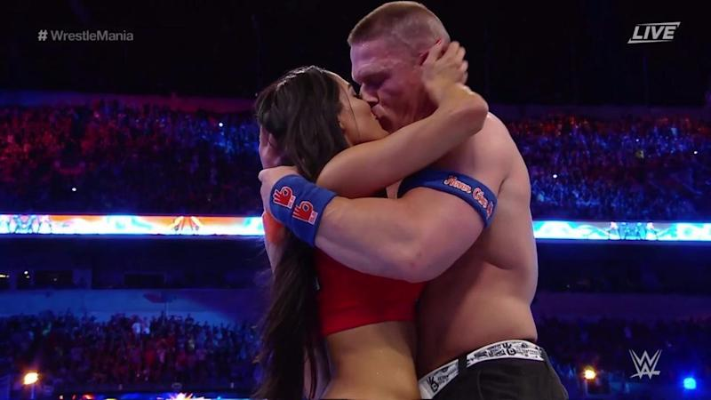 John Cena Proposes To Nikki Bella At Wrestlemania