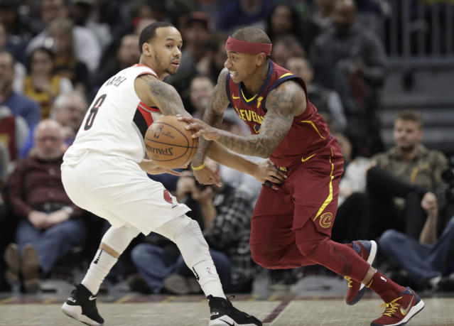Isaiah Thomas made the most of his limited minutes in his Cleveland Cavaliers debut on Tuesday. (AP)