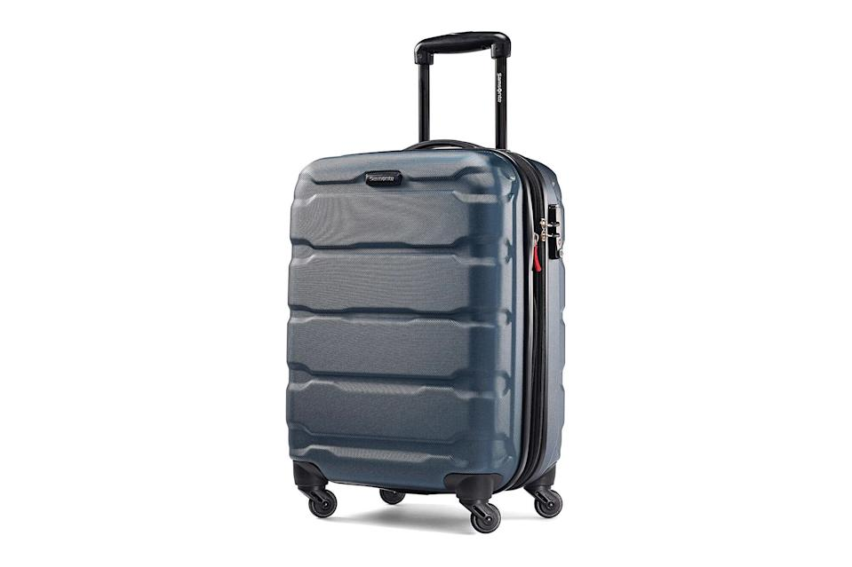 "$130, Amazon. <a href=""https://www.amazon.com/Samsonite-Omni-Hardside-20-Inch-Spinner/dp/B013WFNS12?ref_=ast_sto_dp"" rel=""nofollow noopener"" target=""_blank"" data-ylk=""slk:Get it now!"" class=""link rapid-noclick-resp"">Get it now!</a>"