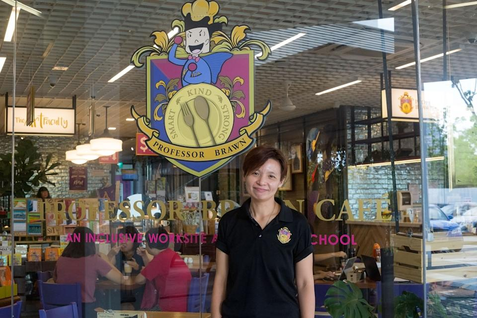 Joyce Tey, 41, an operation manager at Pathlight's Professor Brawn cafe. (PHOTO: Dhany Osman/Yahoo News Singapore)