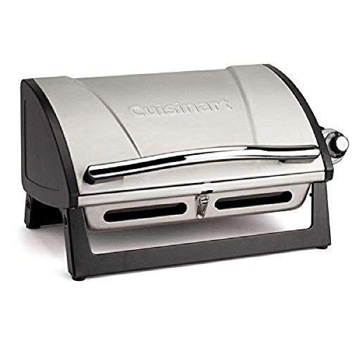 """<p><strong>Cuisinart</strong></p><p>amazon.com</p><p><strong>$89.99</strong></p><p><a href=""""https://www.amazon.com/dp/B01J3S1NWI?tag=syn-yahoo-20&ascsubtag=%5Bartid%7C1782.g.36422297%5Bsrc%7Cyahoo-us"""" rel=""""nofollow noopener"""" target=""""_blank"""" data-ylk=""""slk:BUY NOW"""" class=""""link rapid-noclick-resp"""">BUY NOW</a></p><p>Cuisinart is known for its kitchen appliances so it's no surprise that their tabletop Grillster is top-rated on Amazon. One reviewer even said: """"After using this grill about a half dozen times I have no desire anymore for a full-size grill.""""</p>"""