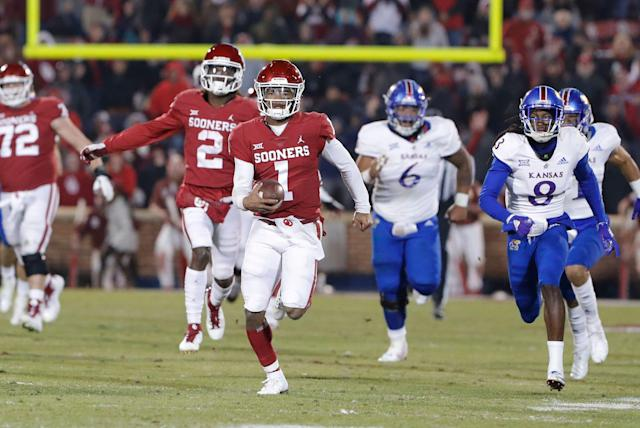 Oklahoma quarterback Kyler Murray visited the Giants on Thursday. (AP)