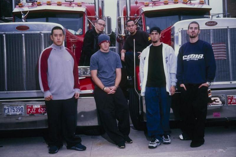 This is the first track from Linkin Park's tribute album, seen here with Bennington in the noughties. Source: Getty