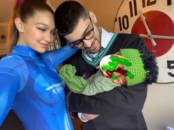 PHOTO: Gigi Hadid and Zayn Malik shared a family photo on Instagram while celebrating daughter's first Halloween, Oct. 31, 2020. (gigihadid/Instagram)