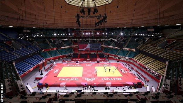 The Nippon Budokan venue hosts judo and karate events at Tokyo 2020