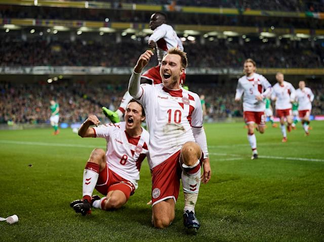 Christian Eriksen scores a hat-trick as superb Denmark end Republic of Ireland's 2018 World Cup dream