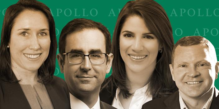Apollo Global Management is stacking its bench with credit investment professionals to help scout out debt deals as the coronavirus pandemic continues to drag on businesses.