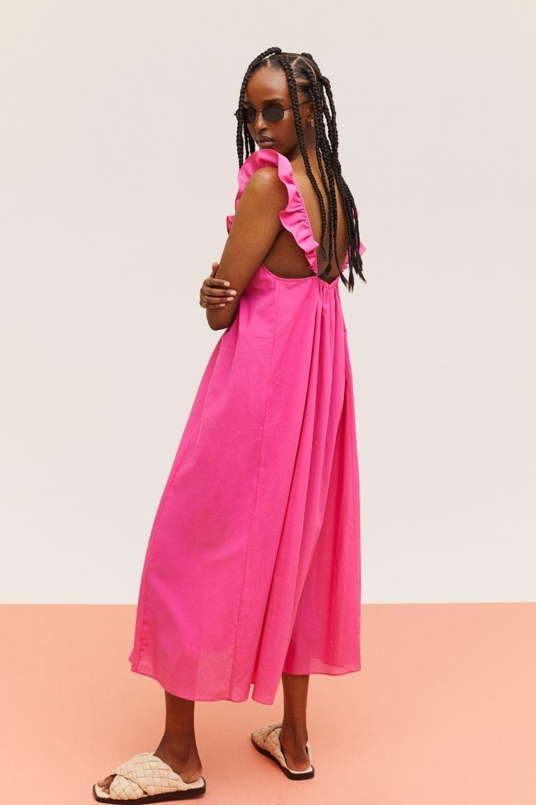 <p>This easy, breezy <span>H&amp;M Ruffle-Detail Dress</span> ($20) comes in four different colors, including pink, lavender, black, and blue. The comfy silhouette makes it perfect for hot days or long road trips.</p>