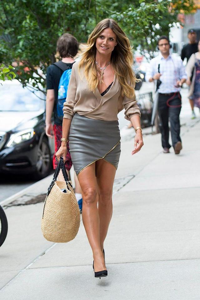 Heidi Klum stepped out recently in New York City. (Photo: Getty Images)