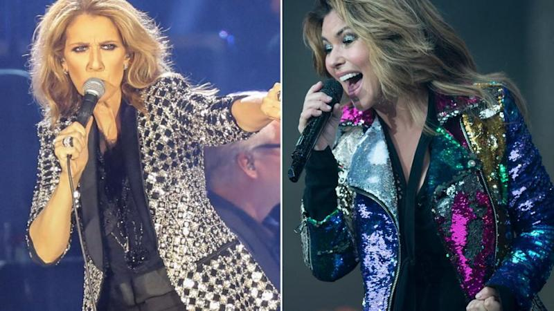 It's a battle of the 2018 Australian tour for Celine Dion and Shania Twain. Source: Getty