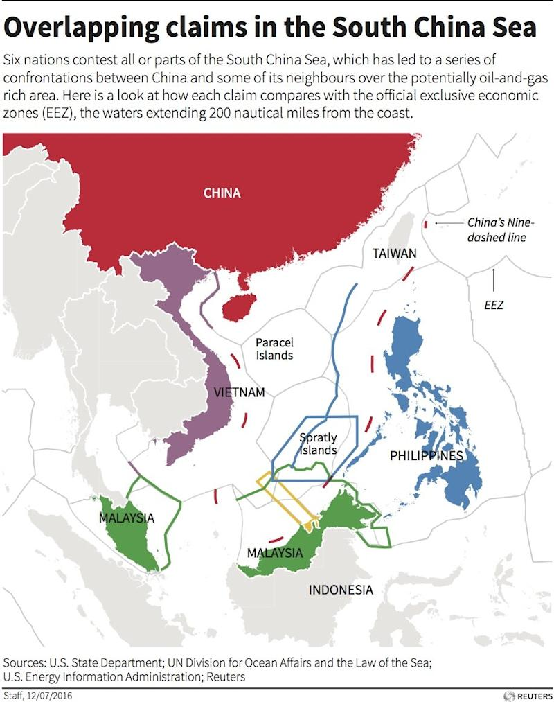 map south china sea