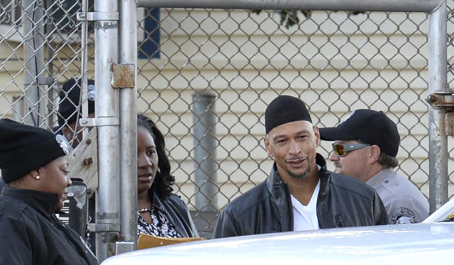 Rae Carruth was released from prison Monday after 19 years behind bars for conspiring to kill his pregnant girlfriend. (AP)