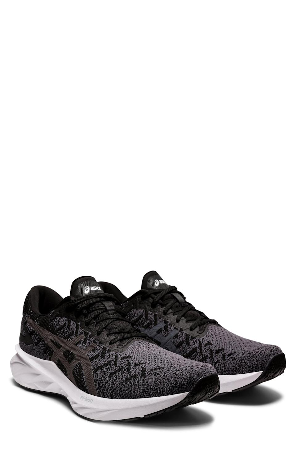 """<p><strong>ASICS</strong></p><p>nordstrom.com</p><p><a href=""""https://go.redirectingat.com?id=74968X1596630&url=https%3A%2F%2Fwww.nordstrom.com%2Fs%2Fasics-dynablast-2-running-shoe-men%2F5794664&sref=https%3A%2F%2Fwww.menshealth.com%2Fstyle%2Fg37081969%2Fnordstroms-anniversary-sale-best-sneakers%2F"""" rel=""""nofollow noopener"""" target=""""_blank"""" data-ylk=""""slk:BUY IT HERE"""" class=""""link rapid-noclick-resp"""">BUY IT HERE</a></p><p><del>$110<br></del><strong>$69.90</strong></p><p>The right pair of sneakers can turn your runs into a rocketship-like experience. If you want to bring some of that extraterrestrial magic to the track or treadmill, check out ASICS' Dynablast, which features the ultra-bouncy FlyteFoam Blast cushioning. </p>"""