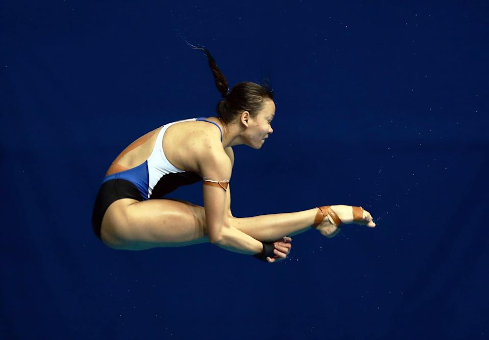 Pandelela clinched Malaysia's first gold medal in the women's 10m platform final at the Fina Diving World Cup 2021 in Japan yesterday. — Reuters pic