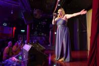 Former Eurovision entrant Nicki French sings onstage in London