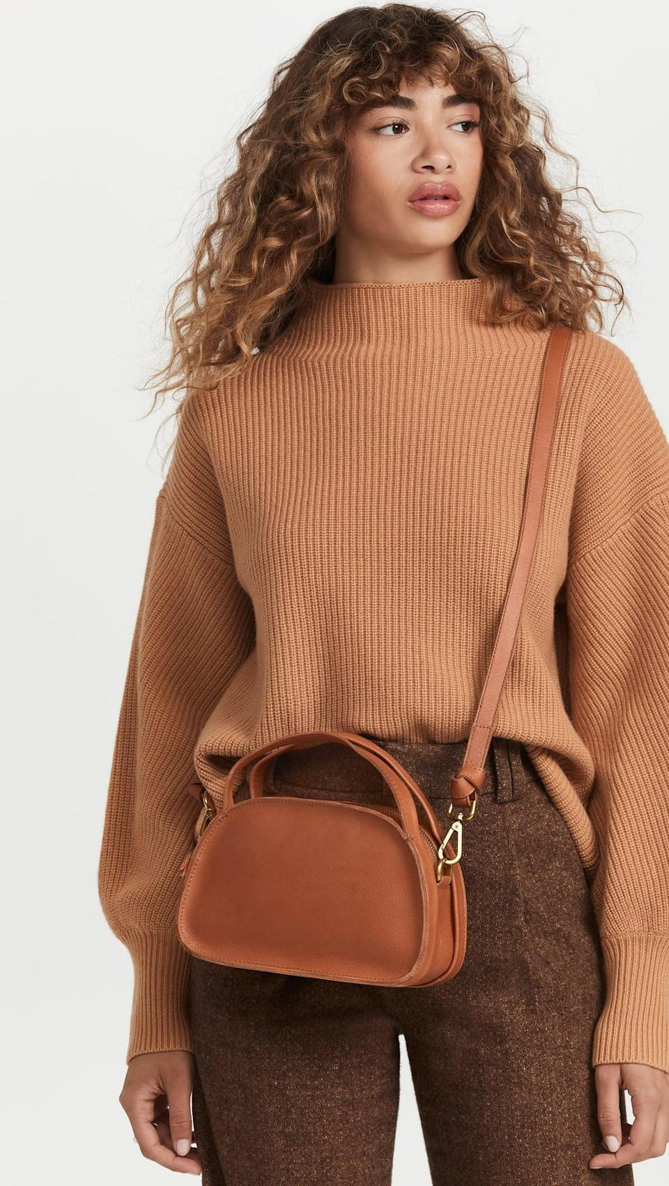 <p>You can wear this <span>Madewell Sydney Zip Top Crossbody Bag</span> ($138) so many different ways. It's the ideal fall carryall.</p>