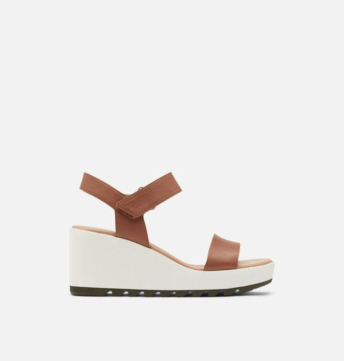 """<p>sorel.com</p><p><strong>$130.00</strong></p><p><a href=""""https://go.redirectingat.com?id=74968X1596630&url=https%3A%2F%2Fwww.sorel.com%2Fp%2Fwomens-cameron-wedge-sandal-1943671.html&sref=https%3A%2F%2Fwww.townandcountrymag.com%2Fstyle%2Fg2095%2Fmothers-day-gift-ideas%2F"""" rel=""""nofollow noopener"""" target=""""_blank"""" data-ylk=""""slk:Shop Now"""" class=""""link rapid-noclick-resp"""">Shop Now</a></p><p>Gift her a pair of classic and oh-so-elevated (see what we did there?) sandals. </p>"""