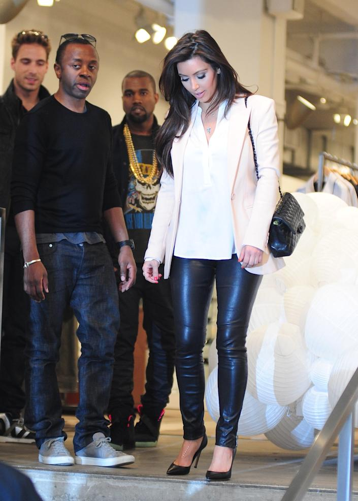 Kanye West and Kim Kardashian West were spotted in New York City.