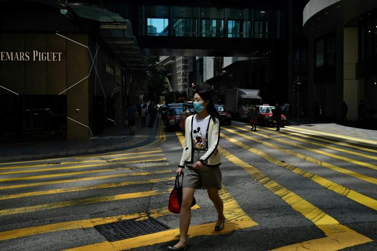 Hong Kong reported no new cases for the fifth straight day (AFP Photo/Anthony WALLACE)