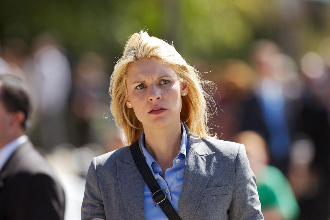 "In this publicity photo released by Showtime, actress, Claire Danes, as Carrie Mathison is shown in Episode 10, of ""Homeland."" Danes was nominated for an Emmy award for outstanding actress in a drama series on Thursday, July 19, 2012, for her role as Carrie Mathison on ""Homeland."" The 64th annual Primetime Emmy Awards will be presented Sept. 23 at the Nokia Theatre in Los Angeles, hosted by Jimmy Kimmel and airing live on ABC. (AP Photo/Showtime, Kent Smith)"