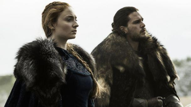 PHOTO: Game of thrones characters Sansa and Jon Snow on season 6, episode 9, June 19, 2016. (Helen Sloan/courtesy of HBO)