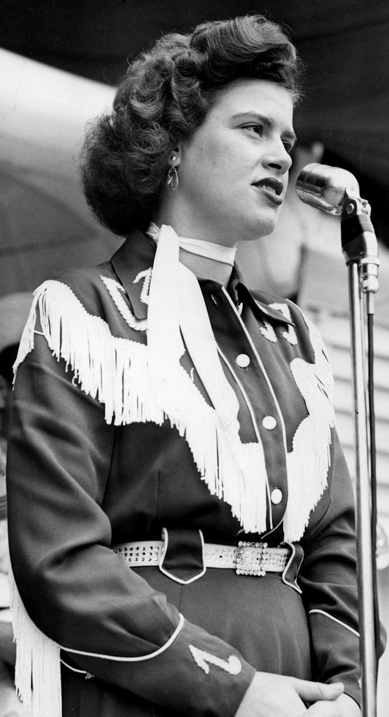 Patsy Cline performs June 26, 1955, at Centennial Park.