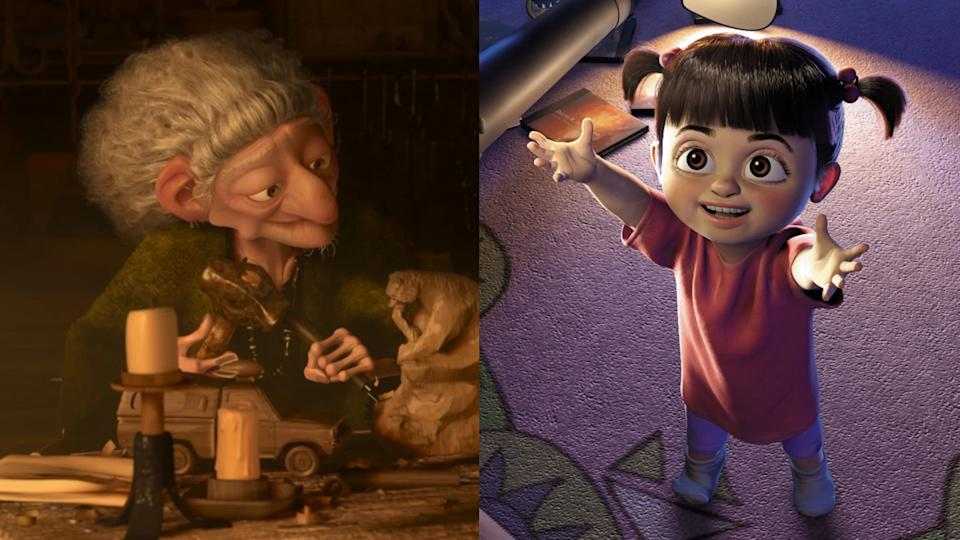 The witch in 'Brave' and Boo in 'Monsters Inc' are connected in the Pixar Theory. (Credit: Pixar)
