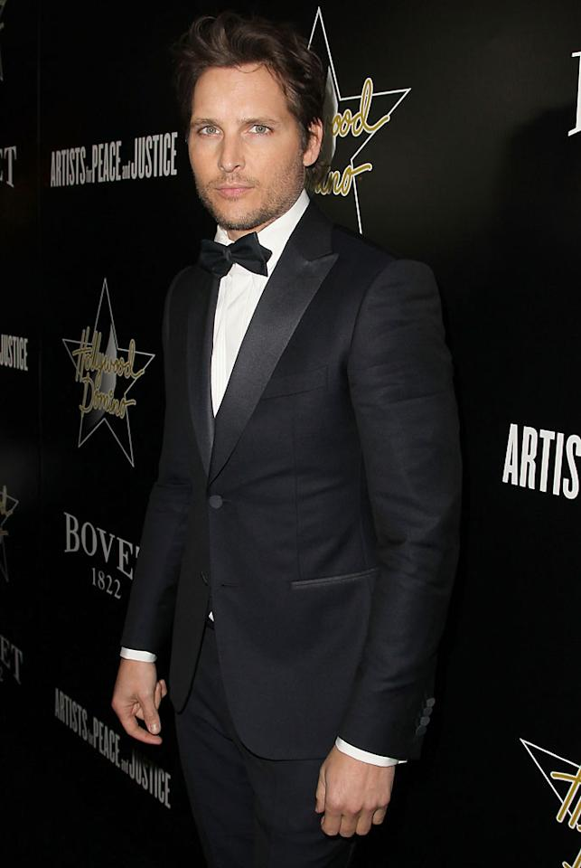 Peter Facinelli attends the Hollywood Domino And Bovet 1822 Gala Benefiting Artists For Peace And Justice at Sunset Tower on February 21, 2013 in West Hollywood, California.
